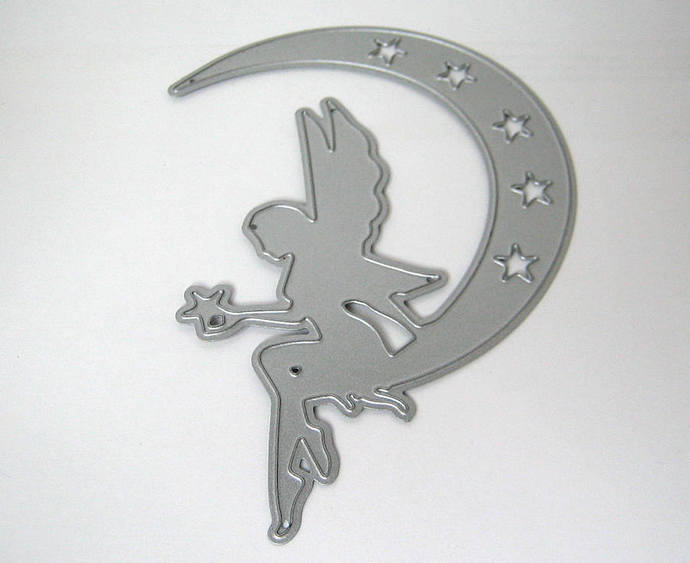 Fairy on Moon with Stars Metal Cutting Die