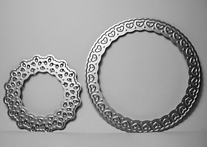 2 pc Fancy Circles Cutting Die Set