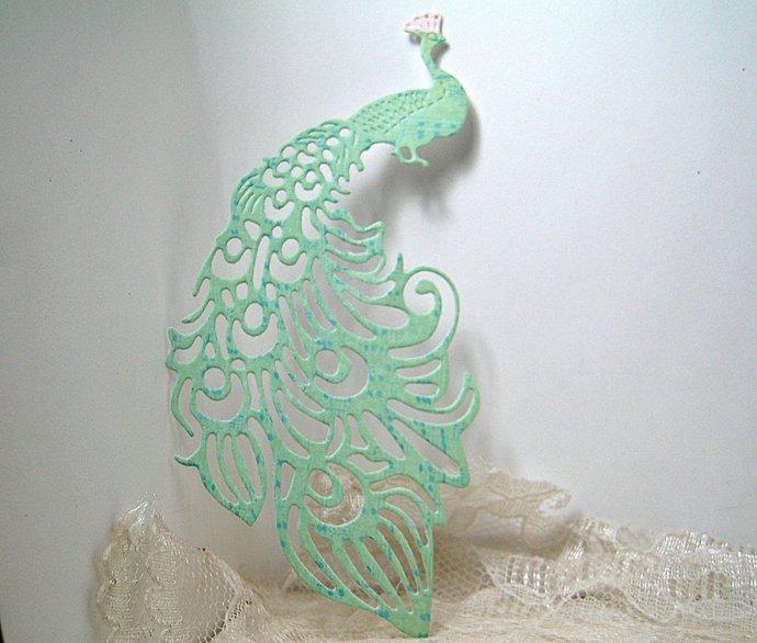 Fancy Peacock Metal Cutting Die Bird Die Cuts