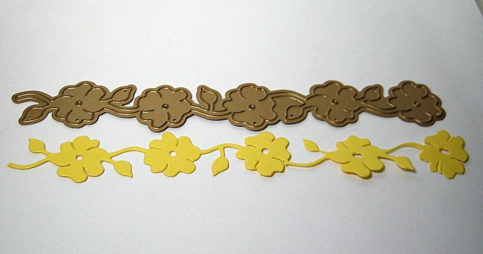 Floral Strip Metal Cutting Die
