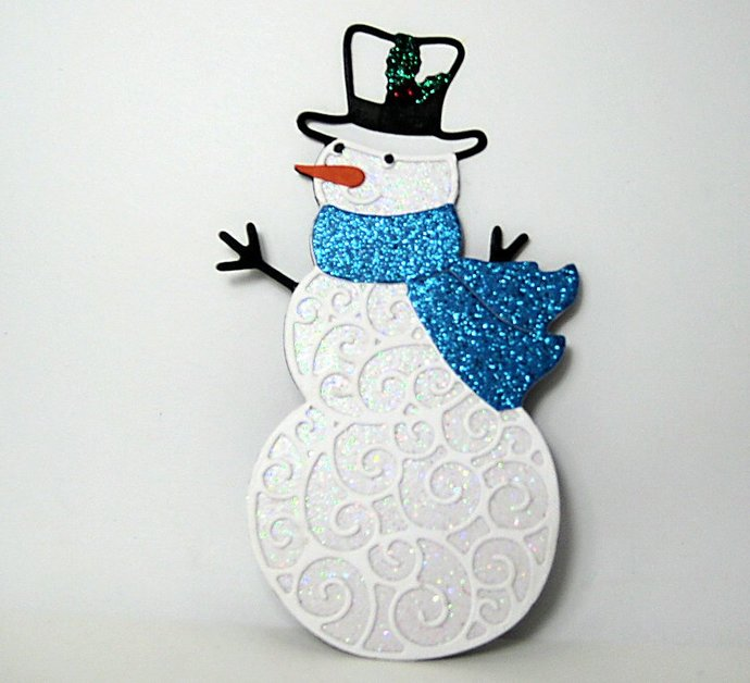 Fancy Snowman Metal Cutting Die Set