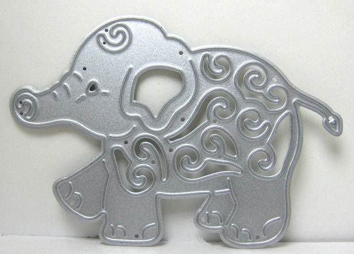 Small Fancy Baby Elephant Metal Cutting Die