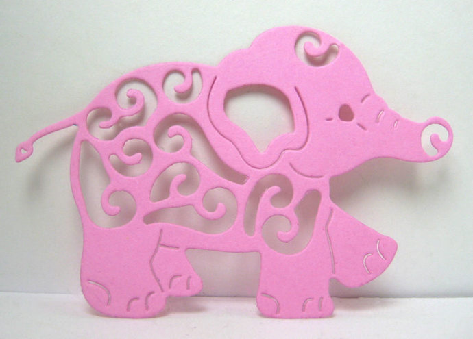 Small Fancy Baby Elephant Metal Cutting Die