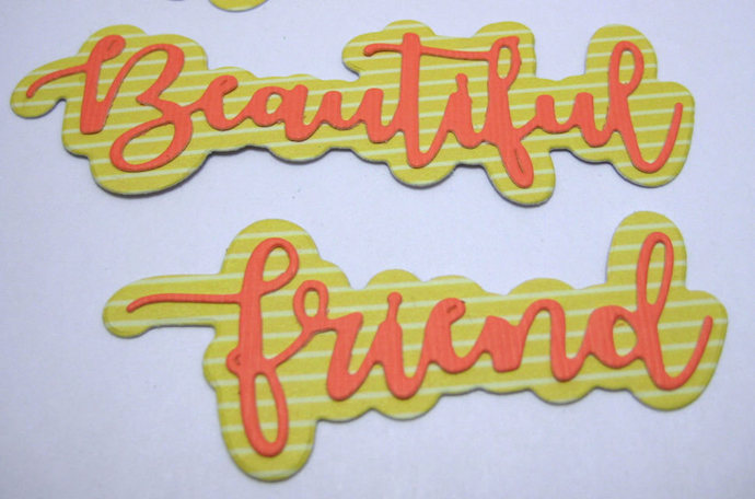 4 Words Metal Cutting Dies Set Beautiful, Wonderful, Awesome, Friend Die
