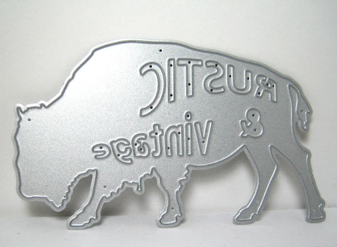 Rustic & Vintage Bison Buffalo Metal Cutting Die