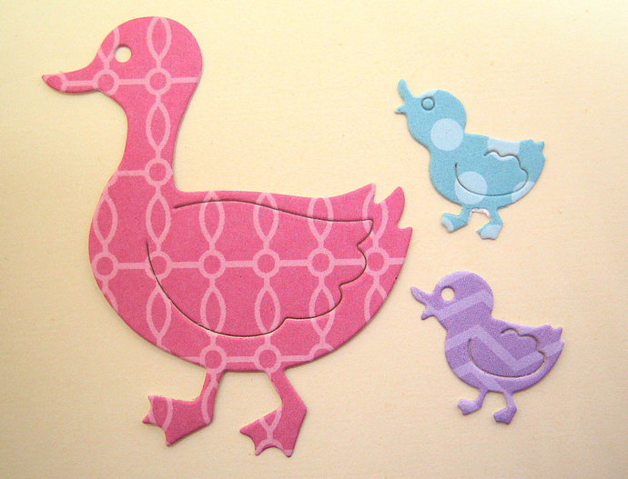 Mommy Duck and Ducklings Metal Cutting Die Easter Card Baby Scrapbook Page