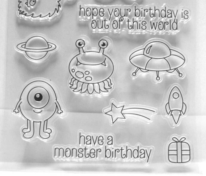 Cute Space Monster Clear Stamps
