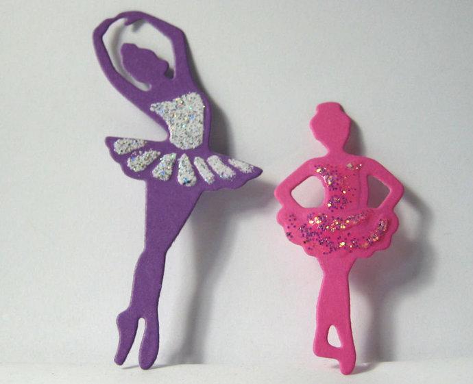 2 piece Ballerina Girls Metal Cutting Dies Ballet Die Style #1