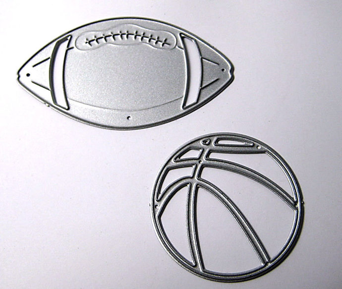 2pc Football and Basketball Cutting Die Set