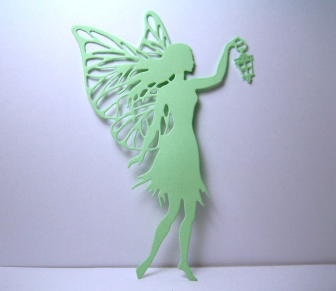 Large Fairy  with Lantern Metal Cutting Die, Card Making and Scrapbooking Dies
