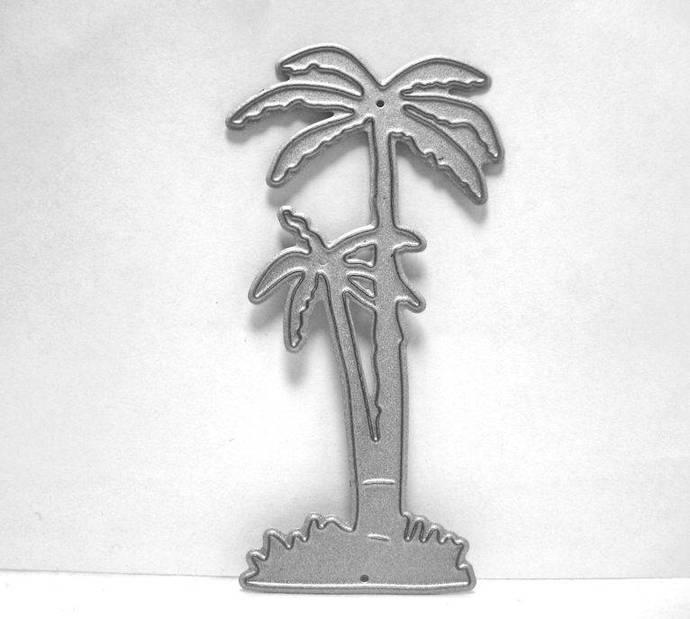 Palm Tree Metal Cutting Die, Coconut Tree Die