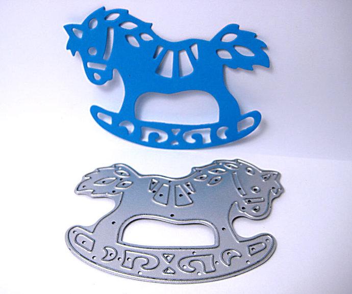 Rocking Horse Metal Cutting Die Style #2