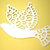 Fancy Winged Dove Bird Cutting Die
