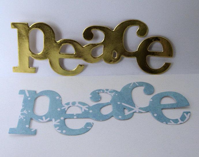 Peace Word Text Metal Cutting Die