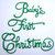 Baby's First Christmas Words Metal Cutting Die