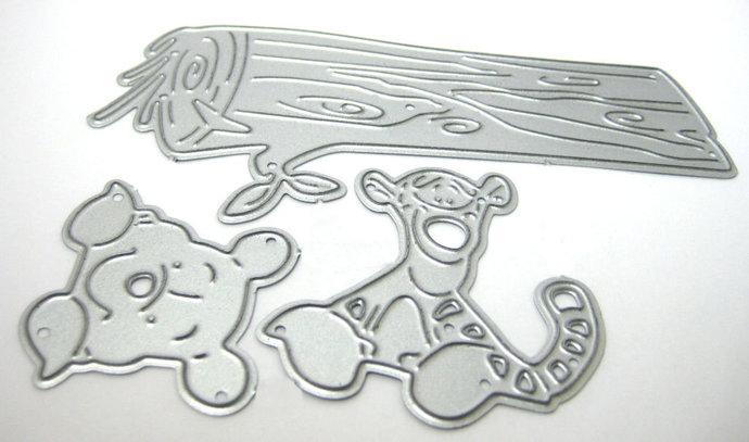 Pooh, Tigger on Log Metal Cutting Die Set