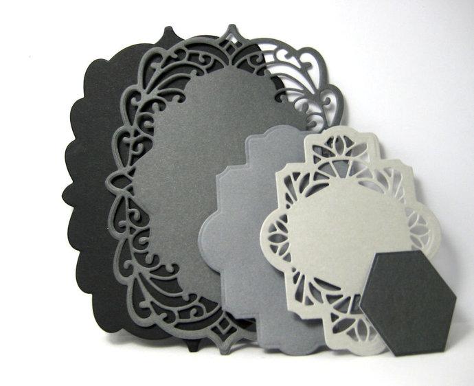5pc Frame Metal Cutting Die Set Style #3 Card Making