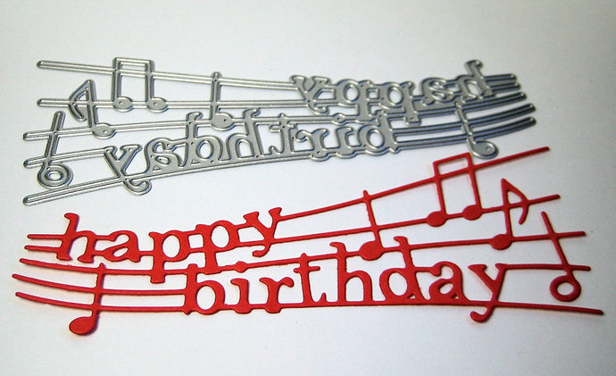 Musical Happy Birthday Cutting Die