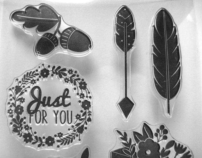 Just For You, Feather, Arrow, Today Event, Acorns, Clear Stamp Set