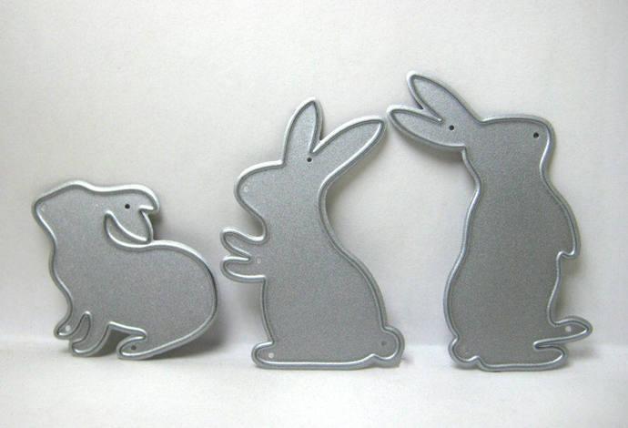 3pc Bunny Rabbit Metal Cutting Dies