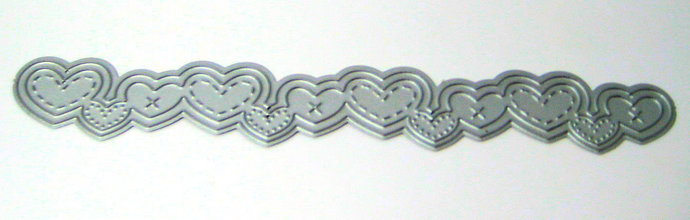 Stitched Hearts Border Edge Metal Cutting Die
