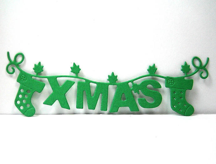 Xmas Banner Cutting Die, Card Making and Scrapbooking Dies