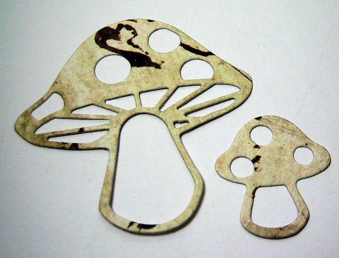 2pc Mushroom Metal Cutting Dies Set