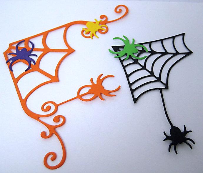 2pc Spider Web Cutting Dies, Halloween Die Set