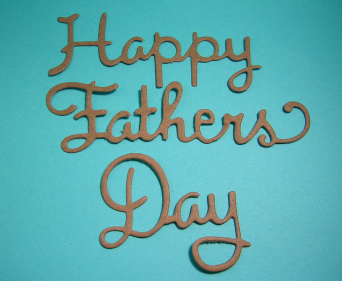 Happy Fathers Day Cutting Die Word Metal Cutting Dies