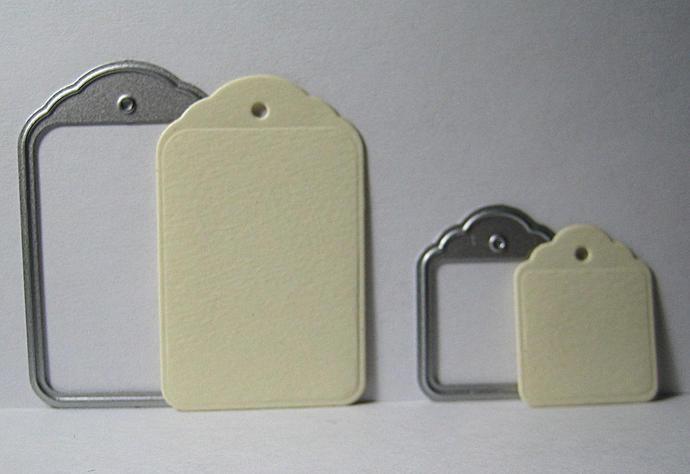 Tags Metal Cutting Die Merchandise or Gift Tag
