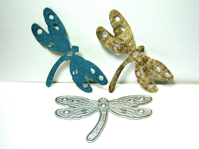 Dragonfly with Curved Body Cutting Die