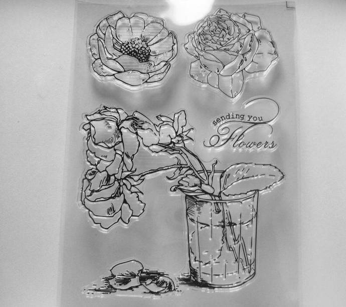 Sending You Flowers Clear Stamp Set