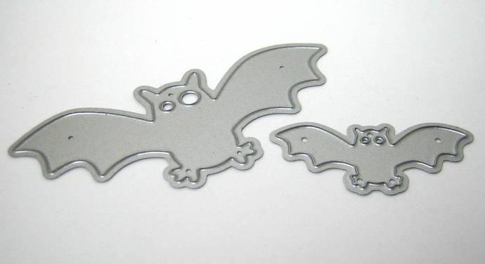 2pc Bats Metal Cutting Dies, Halloween Die