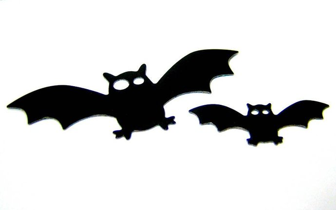 2pc Bats Metal Cutting Dies, Halloween Die