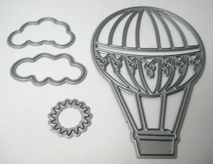 Die Cutting Balloon, Clouds and Sun Metal Dies Style #2