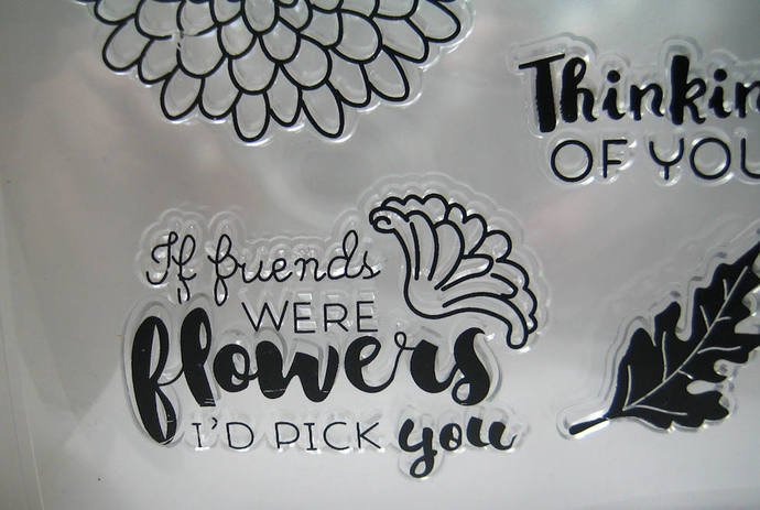 Friends Flower Thinking of you Clear Stamp Set