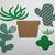 6 Piece Cactus Metal Cutting Dies Set