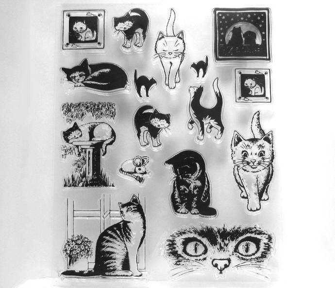 15 Cats and 1 Mouse Clear Stamp Set