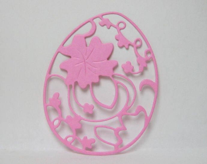Fancy Easter Egg Metal Cutting Die