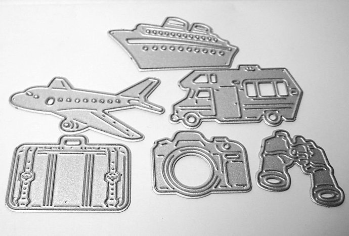 6pc Vacation Set Cutting Dies with Camper