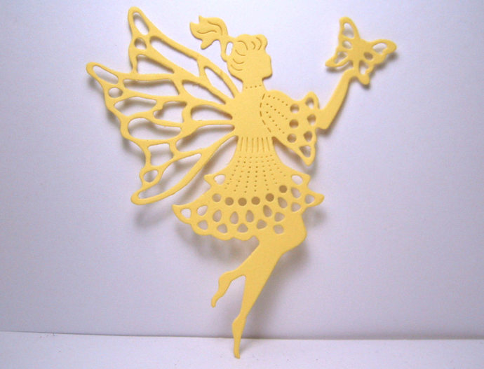 Fairy Holding a Butterfly Metal Cutting Die