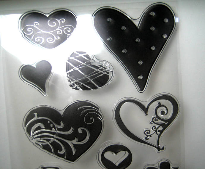 Hearts Clear Stamps Set