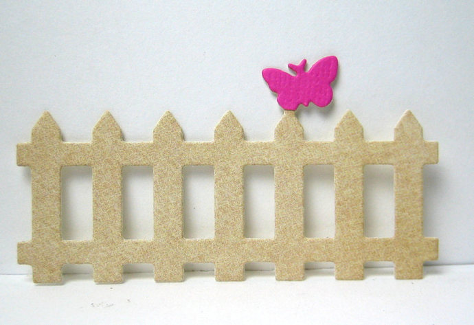 Fence with Butterfly Metal Cutting Die