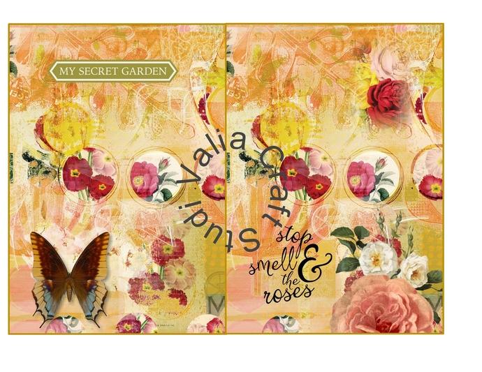 Secret Garden  Printable Journal kit. Instant Download.