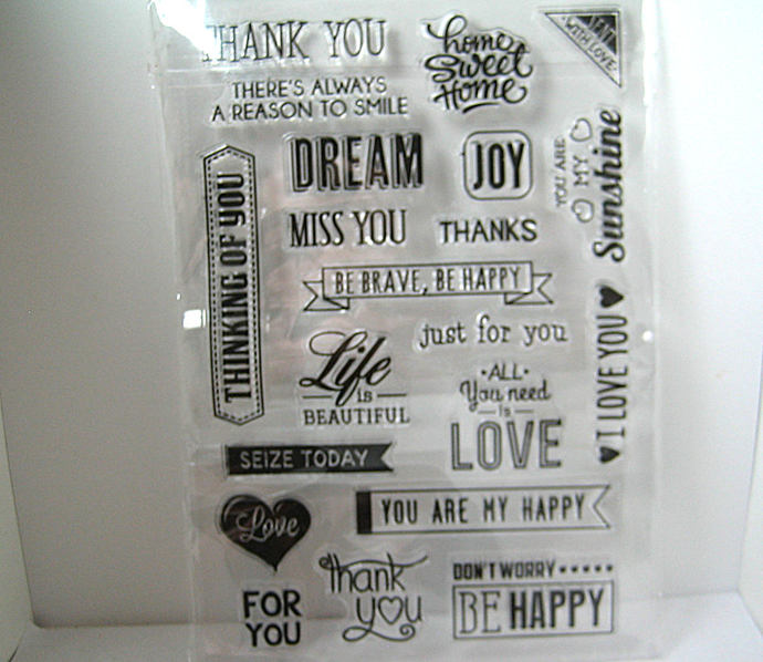 Sentiments, Sayings, Word Stamps