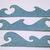 Water Ocean Waves Metal Cutting Die 3pc Set