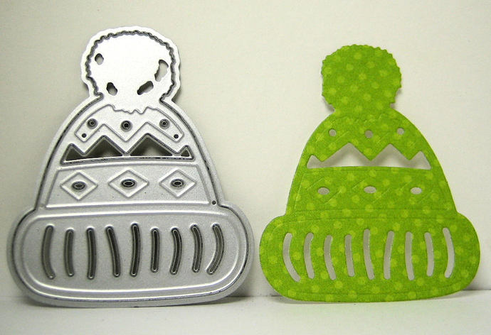 3pc Winter Hat & Mittens Cutting Die Set