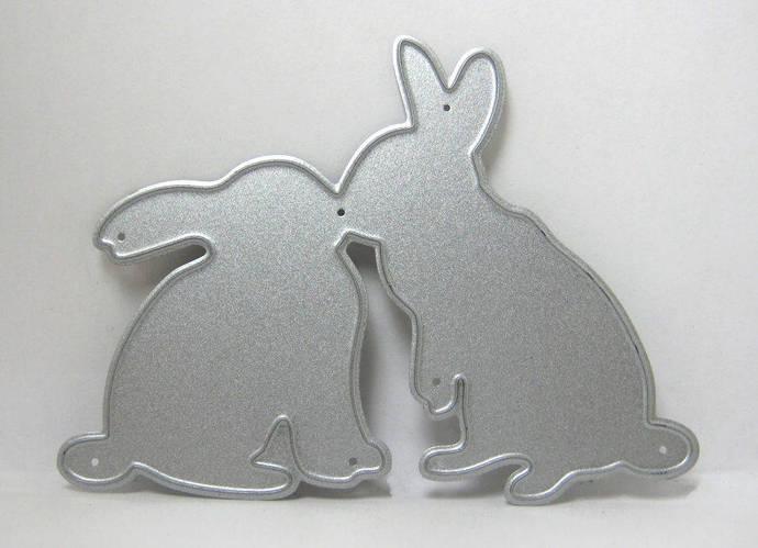 Kissing Bunny Rabbit Metal Cutting Die