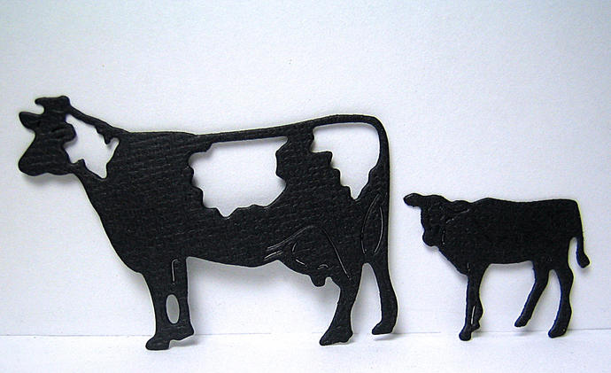 2 piece Cow and Calf Metal Cutting Die Set
