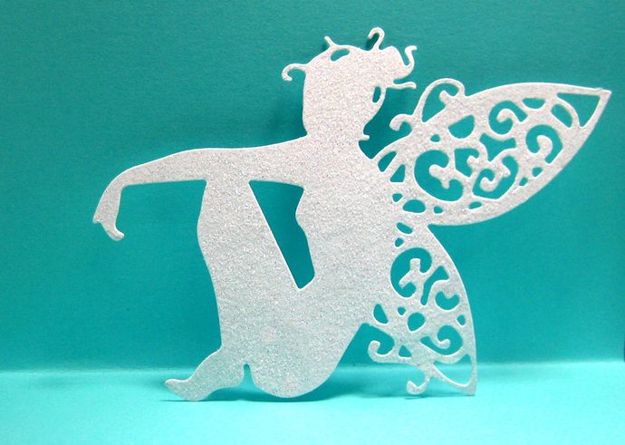Sitting Fairy Metal Cutting Die Cuts